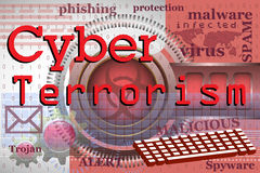 Cyberterrorismus Stockfoto