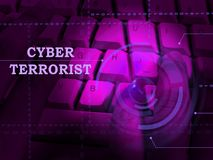 CyberterroristExtremism Hacking Alert 3d illustration royaltyfri illustrationer