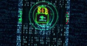 Cyberveiligheid en beschermingsconcept stock illustratie