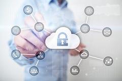 Cyberveiligheid, Gegevensbescherming, informatieveiligheid en encryptie Internet-technologie en bedrijfsconcept vector illustratie