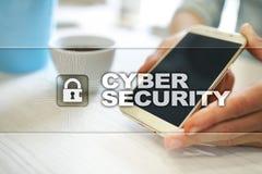 Cyberveiligheid, Gegevensbescherming, informatieveiligheid en encryptie Internet-technologie en bedrijfsconcept royalty-vrije stock foto