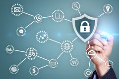 Cyberveiligheid, Gegevensbescherming, informatieveiligheid Internet-technologieconcept royalty-vrije stock afbeelding