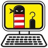 Cyberverbrechen lizenzfreie abbildung