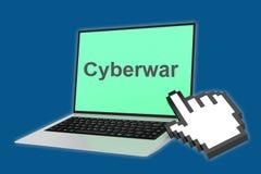 Cyberwar concept Stock Images