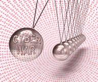 Cyberwar het Virtuele Oorlogvoering het Binnendringen in een beveiligd computersysteem Invasie 3d Teruggeven vector illustratie