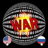 Cyberwar between USA and Russia Royalty Free Stock Image
