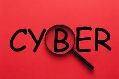 Cyberword Concept royalty-vrije stock afbeelding