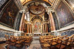 The Cybo Chapel in the Basilica of Santa Maria del Popolo in Rom Royalty Free Stock Images