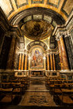 Cybo Chapel, Santa Maria del Popolo Church. Rome. Italy stock photography