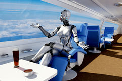 Cyborg στην προεδρία Στοκ εικόνα με δικαίωμα ελεύθερης χρήσης