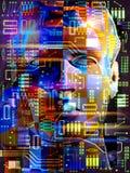 Cyborg. 3d concept of a robot Stock Photography
