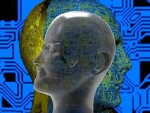 Τρισδιάστατη απόδοση πλασμάτων Cyborg Στοκ εικόνα με δικαίωμα ελεύθερης χρήσης
