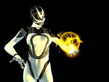 Cyborg. 3d render of female cyborg Royalty Free Stock Photography