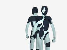 Cyborg. Female cyborg powers up energy Royalty Free Stock Image