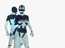 Cyborg. 3d render of Female cyborg Stock Images