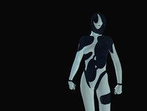 Cyborg. 3d render of Female cyborg Stock Photo