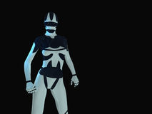 Cyborg. 3d render of Female cyborg Royalty Free Stock Image