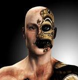 The Cyborg. A male cyborg for technology concepts Stock Images