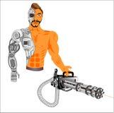 Cyborg android, teknologi av samtiden vektor illustrationer