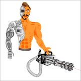 Cyborg, androide, tecnologia del nostro tempo illustrazione vettoriale