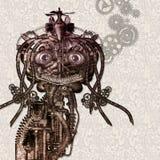 Cyborg antique illustration stock
