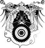 Cyborg astratto dell'ornamento illustrazione di stock
