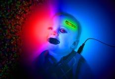 Cyborg baby Stock Image