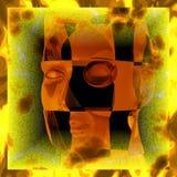 Cyborg bizzarro royalty illustrazione gratis