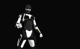 Cyborg character Stock Photos
