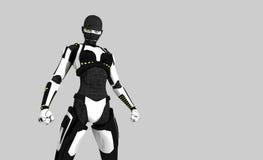 Cyborg character vector illustration