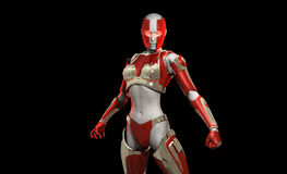 Cyborg character. 3d illustration of a cyborg character Royalty Free Stock Image