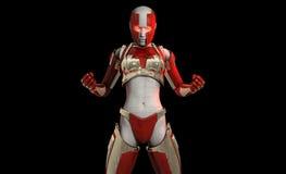Cyborg character Royalty Free Stock Photos