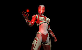 Cyborg character Stock Image