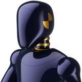 Cyborg character crash test dummy stock illustration