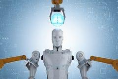 Cyborg de construction de robot illustration libre de droits