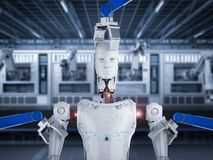 Cyborg de construction de robot illustration stock