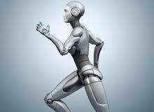 Cyborg de corrida no fundo brilhante ilustração stock