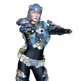 Cyborg de Femake Fotografia de Stock Royalty Free