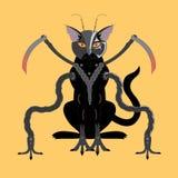 Cyborg del gato negro Imagenes de archivo