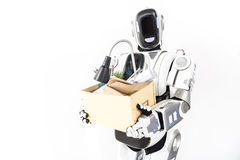 Cyborg, der in Alltagsleben sich stützt lizenzfreie stockfotos