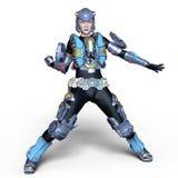 Cyborg di Femake Immagine Stock