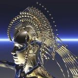 Cyborg. Digital visualization of a cyborg Royalty Free Stock Photography