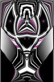 Cyborg estrangeiro, modelo fêmea 2093 do assassino AKA: Carmella ilustração royalty free