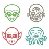 Cyborg et monstres extraterrestres de vampire Images libres de droits