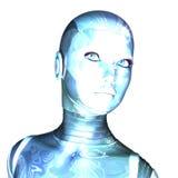 Cyborg féminin Photo libre de droits