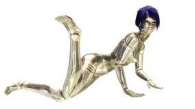 Cyborg féminin Images libres de droits