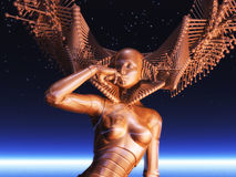 Cyborg féminin Image stock
