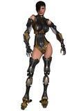 Cyborg féminin Photo stock