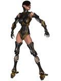 Cyborg féminin Photos libres de droits