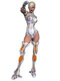 Cyborg femenino stock de ilustración